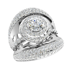 2.75carat Round Genuine Diamond Solitaire Engagement Ring For Women 10k Gold