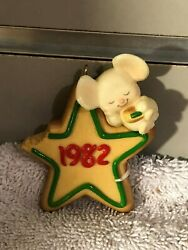 Hallmark Ornament 1982 Little Tree Trimmer Cookie Mouse  Sorry No Box