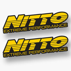 2x Nitto Sticker Vinyl Decal Tires Tyres Wheels Competition Performance Race