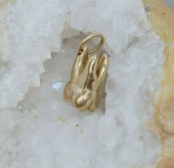 Vintage Heavy 14k Yellow Gold Tooth Charm, Nice Casting, Circa 1950