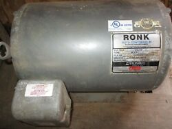 Ronk Roto-con Mark Ii Electrical Power Phase Converter And Ronk Capacitor Panel