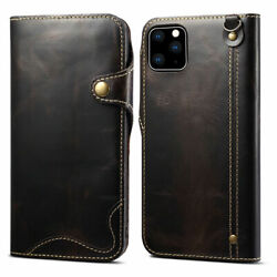 Genuine Leather Wallet Case Cover For Iphone 12 11 11 Pro Samsung Galaxy S10 S20
