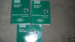 2004 FORD EXPEDITION & LINCOLN NAVIGATOR Shop Repair Service Manual SET Factory