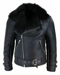 Mens Real Leather Jacket Soft Slim Fit Vintage Classic Brando Cross Zip Casual