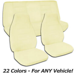 Solid Color Car Seat Covers For Any Car/truck/van/suv/jeep Full Set Front And Rear