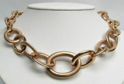 Fabulous Roberto Coin 18k Gold Large Open Link 16 Inch Statement Necklace