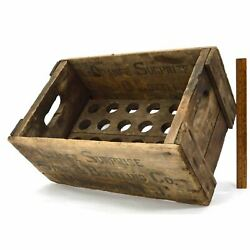 Antique Soda Crate Rare Orange Surprise Syrup And Bottling Co Box Morristown Nj
