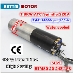 1.8kw 220v Iso20 Automatic Tool Change Atc Water Cooled Spindle Motor Cnc Mill