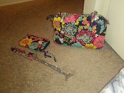 Vera Bradley chain bag Purse and Wristlet wallet in Happy Snails *Retired*