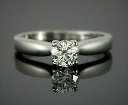 4000 Hearts On Fire 18k White Gold 0.51ct Round Diamond Engagement Ring 5.25