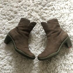 Womenandrsquos M Camper Brown Leather Ankle Boots Booties 38
