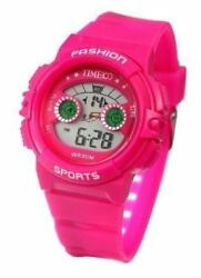Time100 W40007g.06a Kidsand039 Multifunction Lcd Fragrant Pink Strap Digital Watch