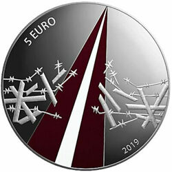 2019 Latvia € 5 Euro Colored Silver Proof Coin Freedom Fights 1918-1920