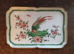 Giraud Limoges France Porcelain Decorated Tray Pheasant Motif