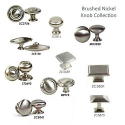 10 Pack Knob Pull Handle Kitchen/bath Cabinet Hardware Brushed Nickel Collection