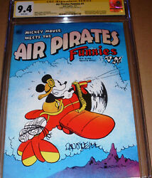 Air Pirate Funnies 1 Cgc Ss Signed Dan Oand039neill Hell 1971 Mickey Mouse Disney Ban
