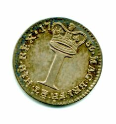 1786 Maundy Penny 1d Extremely Fine Plus Great Britain Rare