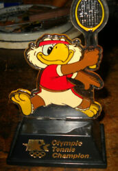 1984 Olympic Champion Trophy Tennis Sam The Eagle Applause Usps 5 Inches Tall