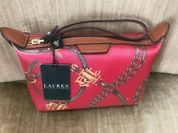 Ralph Lauren New With Tags Caldwell Beltin Red cosmetic bag!  Great gift!