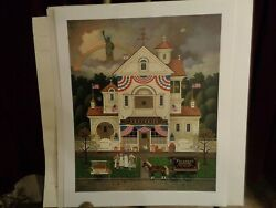 Charles Wysocki Signed And Numbered Print Lady Liberty