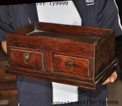 12 Chinese Huanghuali Wood Dynasty Drawer Box Tea Tray Pallet Waiter Tea-things