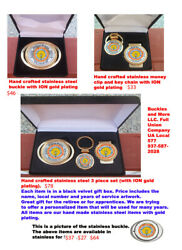 IBEW gold plated (stainless steel metal) retirement set
