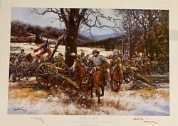 A Way Out John Paul Strain Pistol Remarque Print Double Signed And Inscribed Rare