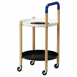 Ikea Fornyad Side Table On Casters Darcel Limited Collection 504.226.96 - New