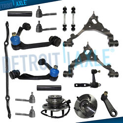 4wd - 17pc Front Upper Lower Control Arms Wheel Bearing Kit For 2000-2003 F-150