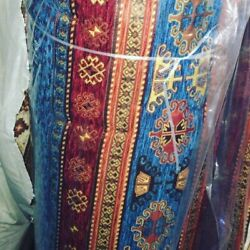 1Roll WHOLESALE  Turkish Anatolian Urgp Kilim Design CHENILLE  FABRIC