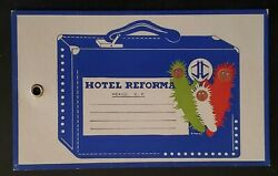 Mint Mexico Hotel Reforma Colorful Luggage Tag