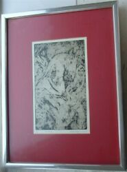 Vintage Gene Kloss Na Limited Edition Signed Print The Journey In Metal Frame