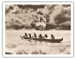 Captain Cookand039s Return - Alan Houghton Vintage Photograph Art Print