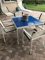 Knoll Patio Furniture 2 Lounges 4 Dining Chairs And Tableand 2 Small Tables