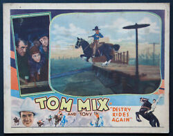Destry Rides Again Tom Mix Tony The Wonder Horse Universal Western 1932 Lc