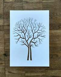 Tree Stencil Reusable Bare Birch Wall Decor Family Tree Stencils for painting