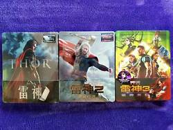 Thor 1-2-3 3d+2d Blu-ray Steelbook Blufans Exclusive 14 [china] Brand New