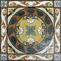 Beautiful Floral Hand Made Carpet Natural Stone Decor Marble Mosaic Geo1239