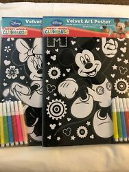 Disney,collectibles Mickeyand Minnie Mouse Velvet Art Posters 8 X 10 2012 X2