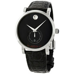 Movado Swiss Red Label Automatic Black Dial Men's Date Watch 0607370