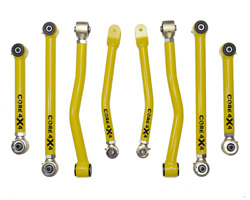 Adjustable Control Arms Complete Set T3 Gladiator Jt 2020-present - Yellow