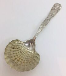 And Co. Antique Aesthetic Sterling Silver Vine Clam Shell Serving Spoon