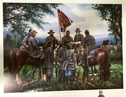 On To Gettysburg John Paul Strain Andnbsphand Painted A/p Remarque Extremely Rare