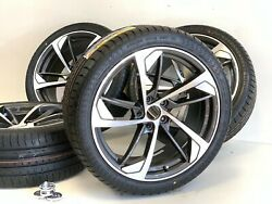 19 Fit Audi Rs7 A8 A4 A5 A6 Tt Replacement Rims Wheels Tires Gray Machined5x112