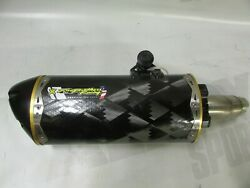 Used Carbon Style Two Brothers Kawasaki Ninja 250r M2 Pipe Slip-on System 08 -13