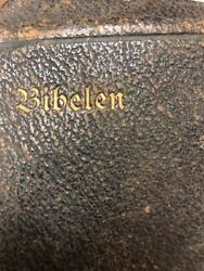 Vintage Antique Danish Bible Leather Softcover Not Sure Age  Look Now