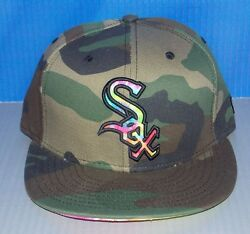 Nwt New Era 59fifty Chicago White Sox Camo Fitted Mens Hat Cap Size 7 3/8