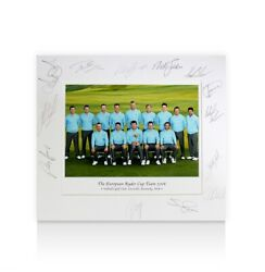 Ryder Cup Team Signed Photo Mount - The European Ryder Cup Team 2008