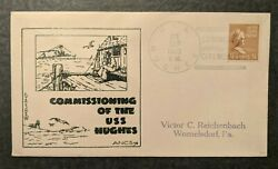 1939 Commissioning Uss Hughes Womelsdorf Pa Illustrated Patriotic Cover
