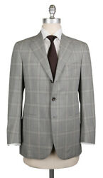 New 6300 Cesare Attolini Gray Wool Plaid Suit - 36/46 - Ca89173